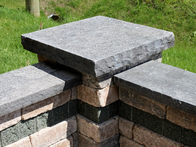Natural Stone Wall Caps : Hessel stone fabrication hampton limestone patio